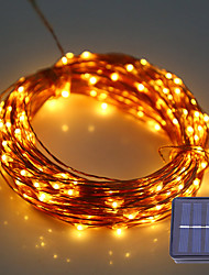 cheap -1Set HKV® 12M 100LED DC 5V Solar Copper Wire LED String Light Outdoor Waterproof Fairy Lamp For Wedding Christmas Decoration