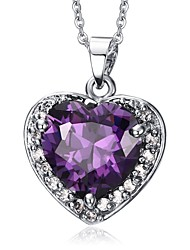 cheap -Women's Synthetic Amethyst Pendant Necklace  -  Purple Necklace For Wedding Evening Party