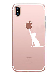 cheap -For iPhone X iPhone 8 iPhone 7 iPhone 7 Plus iPhone 6 Case Cover Pattern Back Cover Case Playing with Apple Logo Soft TPU for Apple