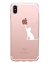 Per iPhone X iPhone 8 iPhone 7 iPhone 7 Plus iPhone 6 Custodie cover Fantasia/disegno Custodia posteriore Custodia Con logo Apple Morbido