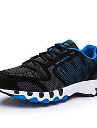 baratos -Homens sapatos Malha Respirável Tule Inverno Outono Calçado vulcanizado Conforto Tênis Corrida Nulo / para Atlético Casual Preto/Vermelho