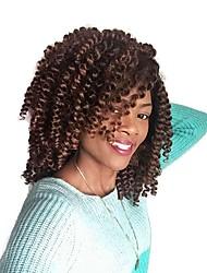 Drejede Fletninger 2pcs / pack Hårkrøller Krøllet Bouncy Curl 8 tommer Ombre hårfletter Jamaican bounce hår Afrikanske fletninger