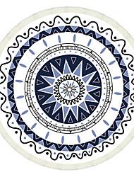 Недорогие -Свежий стиль Пляжное полотенце,Живопись Высшее качество Полиэстер/Хлопок Полотенце