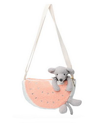cheap -Fashion Mouse Animal Fruit Stuffed Animal Plush Toy Animals One-Shoulder Cute Style Lovely Adorable Messenger Bags Kids Animals Mouse