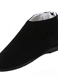 Dámské Boty Flís Zima Sněhule Boty Rovná podrážka Kulatý palec Pro Černá Hnědá