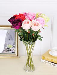 Недорогие -3 ветки шелковые розы 53см украшение для дома искусственные цветы 5 цветов