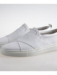 Homme Chaussures Autre Peau d'Animal Printemps Automne Confort Mocassins et Chaussons+D6148 Pour Décontracté Blanc Noir