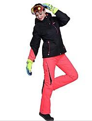 Недорогие -Phibee Жен. Лыжная куртка и брюки Водонепроницаемость С защитой от ветра Теплый Катание на лыжах Полиэстер Наборы одежды Одежда для катания на лыжах