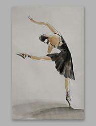 手描きの 人物 縦式, 近代の キャンバス ハング塗装油絵 ホームデコレーション 1枚