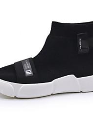 Da uomo Scarpe Maglia traspirante Autunno Comoda Fodera di pelliccia Sneakers Per Casual Nero