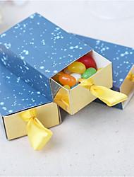 preiswerte -Kreativ Quader Kartonpapier Satin Geschenke Halter mit Muster Geschenkboxen