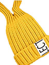 preiswerte -Skimütze Ski Schädel Caps Kinder Unisex Warm Snowboards Acryl Solide Buchstabe & Nummer Skifahren Wandern Radsport / Fahhrad Laufen