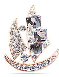 abordables -Mujer Broche Cristal Clásico Moda Cristal Diamante Sintético Legierung Barco Joyas Para Diario Formal