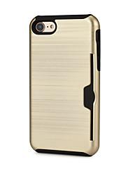 Недорогие -Кейс для Назначение Apple iPhone 7 Plus iPhone 7 Бумажник для карт Чехол Сплошной цвет Твердый ТПУ для iPhone X iPhone 8 Pluss iPhone 8