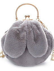 cheap -Women Bags Fur Shoulder Bag Feathers / Fur for Casual All Season White Black Blushing Pink Gray