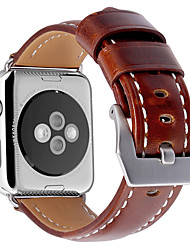 abordables -Bracelet de Montre  pour Apple Watch Series 3 / 2 / 1 Apple Bracelet en Cuir Vrai Cuir Sangle de Poignet