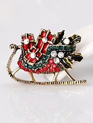 cheap -Men's / Women's Rhinestone Rhinestone Brooches - Simple / Basic Geometric Gold Brooch For Christmas