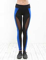preiswerte -Damen Enge Laufhosen Yoga Fitness Strumpfhosen/Lange Radhose Yoga Pilates Übung & Fitness Elastan Polyster S M L