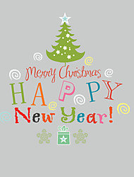 cheap -Christmas Holiday Wall Stickers Plane Wall Stickers Decorative Wall Stickers,Vinyl Home Decoration Wall Decal For Window Wall