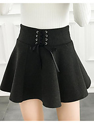 cheap -Women's Holiday Above Knee Skirts Pencil Solid Spring Winter