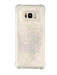 cheap -Case For Samsung Galaxy S8 Plus S8 Shockproof Flowing Liquid Transparent Back Cover Transparent Glitter Shine Soft TPU for S8 Plus S8 S7