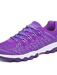 Feminino Sapatos Tule Todas as Estações Conforto Solados com Luzes Tênis Caminhada Para Atlético Roxo Rosa claro