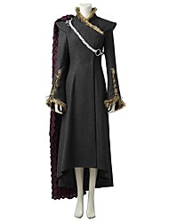 abordables -Game of Thrones Mère des Dragons / Queen Daenerys Targaryen Costume Cosplay de Film Gris & noir Robe / Manteau / Plus d'accessoires Halloween / Carnaval / Fête d'Octobre