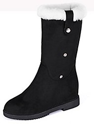 Women's Shoes Cashmere Winter Combat Boots Boots Round Toe Thigh-high Boots For Casual Red Yellow Black