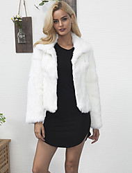 cheap -Long Sleeves Faux Fur Lace Wedding Party / Evening Women's Wrap With Feathers / Fur Coats / Jackets