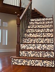 abordables -Abstrait Forme Stickers muraux Autocollants muraux 3D Stickers muraux Autocollants muraux décoratifs, Vinyle Papier Décoration d'intérieur