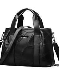 preiswerte -Damen Taschen PU Tragetasche Reißverschluss für Normal Alle Jahreszeiten Schwarz