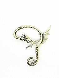 Men's Women's Clip Earrings Rock Statement Jewelry Luminous Stone Alloy Dragon Jewelry For Halloween Club