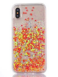 cheap -For iPhone X iPhone 8 iPhone 8 Plus iPhone 7 iPhone 7 Plus iPhone 6 Case Cover Flowing Liquid Transparent Back Cover Case Heart Hard PC