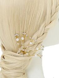 cheap -Crystal Imitation Pearl Rhinestone Hair Pin 1pc Wedding Special Occasion Headpiece