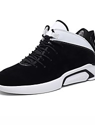 cheap -Men's Shoes PU Winter Comfort / Fluff Lining Athletic Shoes Running Shoes Gold / Black / Black / White