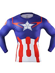 cheap -Captain America Men's Christmas Festival / Holiday Halloween Costumes Red Solid