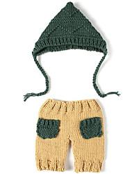 Baby Drenge Tøjsæt Jul Ensfarvet,Nylon Forår Sommer Uden ærmer Sødt Kakifarvet