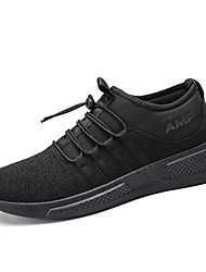 cheap -Men's Shoes PU Spring / Fall Comfort / Fluff Lining Athletic Shoes Running Shoes Black / Black / White
