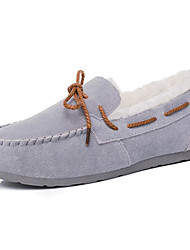 Women's Shoes Nubuck leather Spring Fall Comfort Boat Shoes Flat Heel for Casual Dark Brown Pink Red Purple Gray
