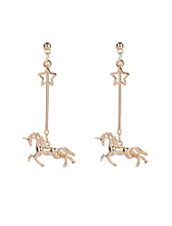 cheap -Women's Horse 2pcs Drop Earrings - Simple / Vintage / Rock Gold Earrings For Bar / Going out