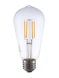 cheap -GMY® 1pc 3.5W 325lm E26 LED Filament Bulbs ST19 4 LED Beads COB Dimmable Edison Bulb Decorative LED Light Warm White 110-130V