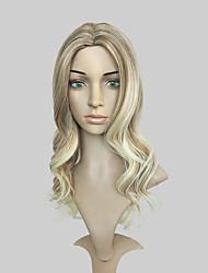 economico -Parrucche sintetiche Molto ondulata Attaccatura dei capelli naturale Taglio scalato Senza tappo Per donna Biondo Parrucca di celebrità