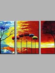Hånd-malede Abstrakt Moderne Kanvas Hang-Painted Oliemaleri Hjem Dekoration Tre Paneler