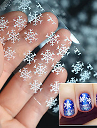 abordables -5pcs Pegatina de uñas Plantilla de estampado de uñas Diario Calcomanías de uñas Moda Navidad Alta calidad