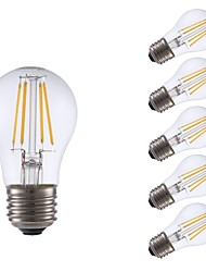 cheap -GMY® 6pcs 3.5W 350 lm E26 LED Filament Bulbs A15 4 leds COB Dimmable LED Lights Warm White AC 110-130 V