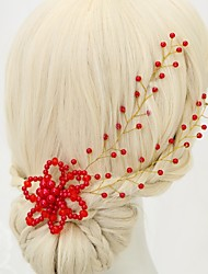 cheap -Crystal Imitation Pearl Headbands with Acrylic 1pc Wedding Special Occasion Headpiece