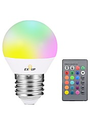 cheap -EXUP® 1pc 5W 400lm E27 LED Smart Bulbs G45 1 LED Beads Integrate LED Dimmable Decorative Remote-Controlled LED Light RGB 85-265V