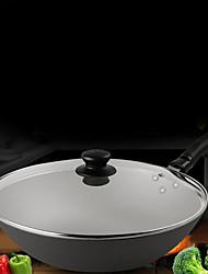 economico -Lega di alluminio Plastica Piatto Pan Pot multiuso,32*8.7