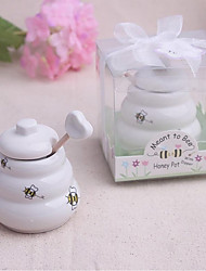 cheap -Meant to Bee Ceramic Honey Pot Beter Gifts® Wedding Favor