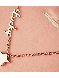 Недорогие -Жен. Ожерелья с подвесками  -  Позолота европейский, Мода Розовое золото Ожерелье Назначение Свадьба, Повседневные